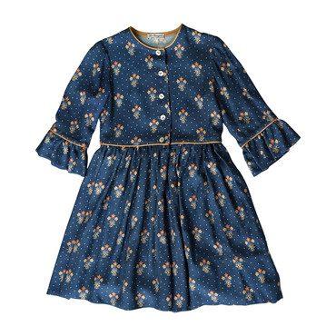 Sisi Dress, Navy Floral