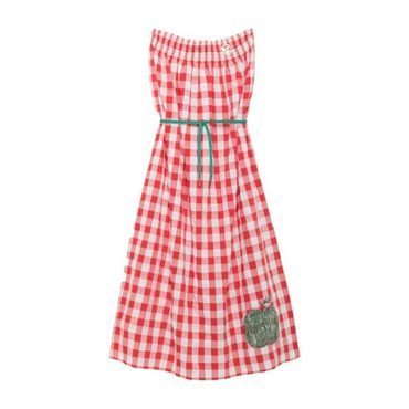 Dolphin Dress, Red Apple
