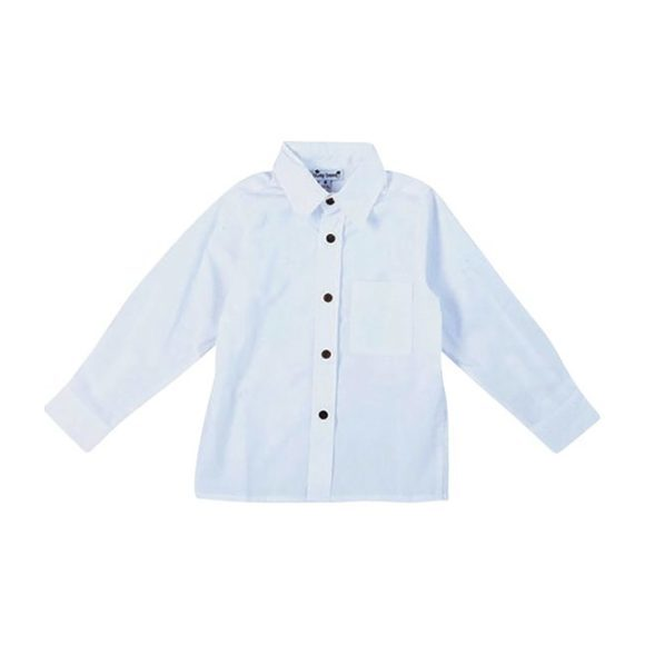 Boys Dress Shirt, White Cotton