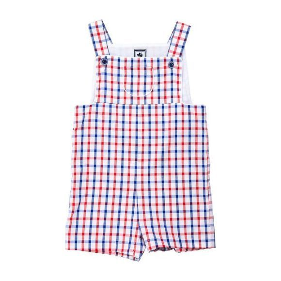 Milling Racerback Overall Red White Blue Check