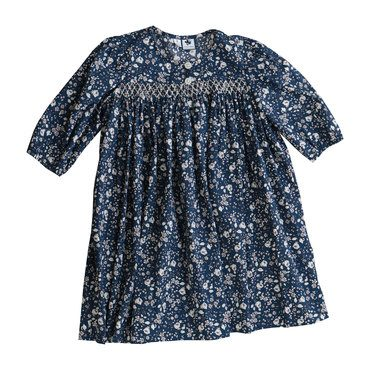 Celine 3/4 Sleeve Dress, Navy Floral