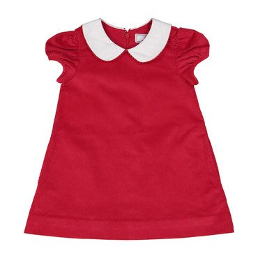 Monogrammable Paige Corduroy Dress, Post Box Red