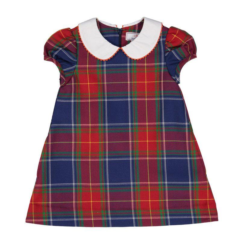 Paige Plaid Dress, Scottish Tartan