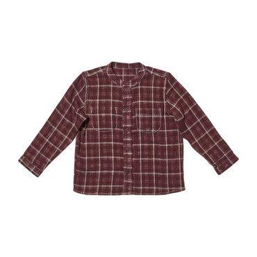 Jack Lee Shirt, Burgundy Plaid