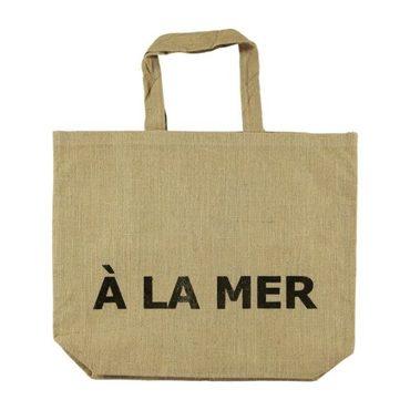 """A la mer"" Jute Beach Bag"