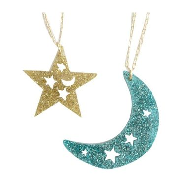 Dream Charms Necklace Set, Gold & Green