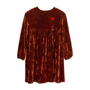 Matilda Velvet Tunic with Embroidery, Bronze
