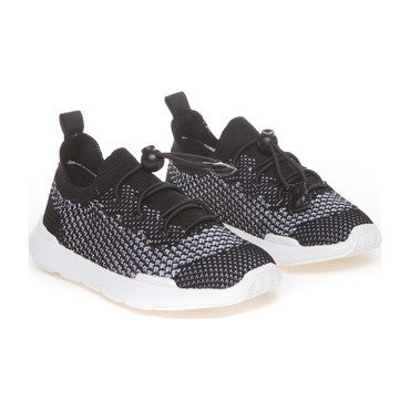 Sutherland Knit Sneakers, Black/White