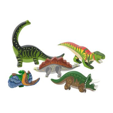 Wooden Dinosaur Set