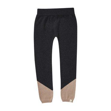 Colorblock Legging, Charcoal/Blush