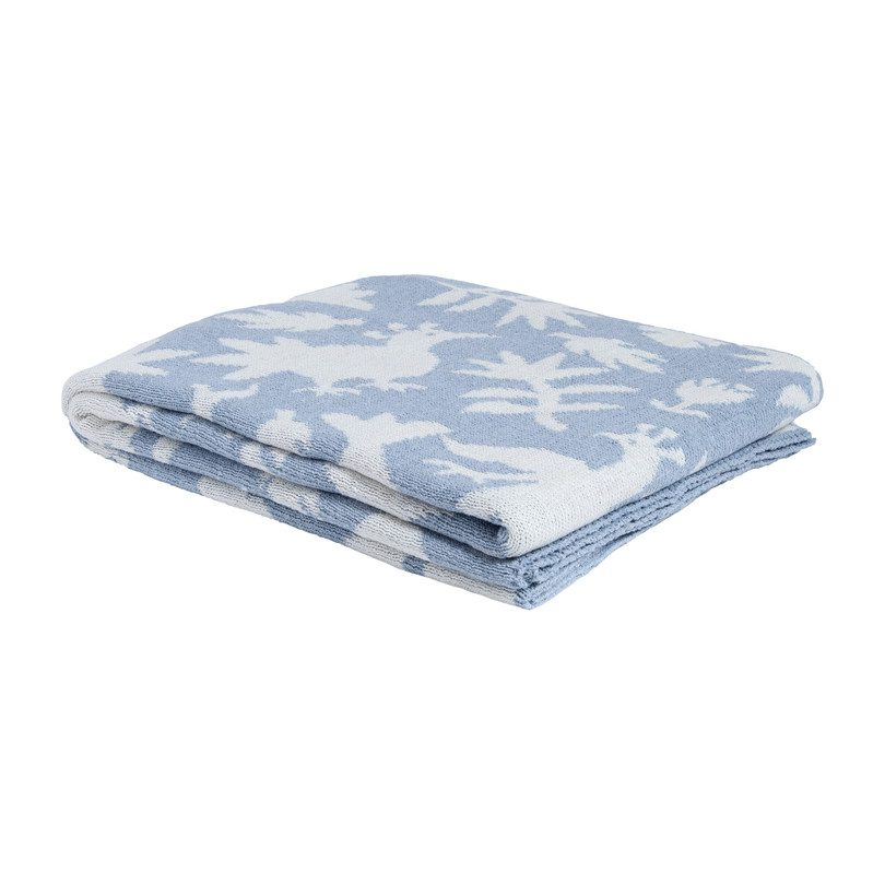 Reversible Otomi Throw, Blue Pond