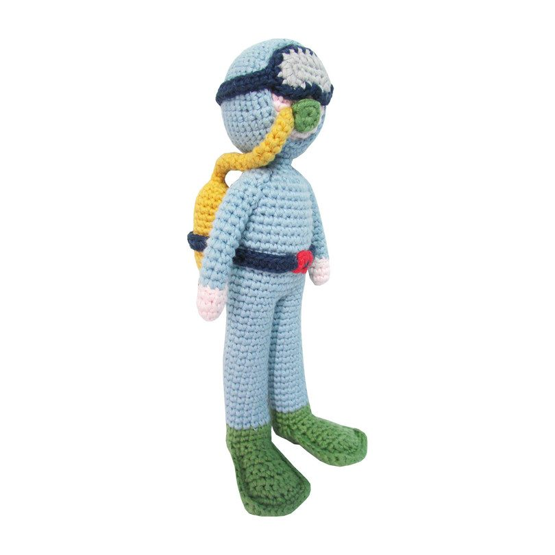 Crochet Diver Rattle Doll