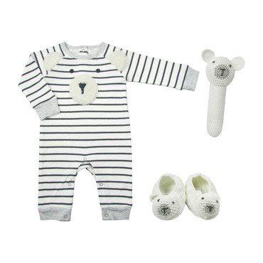 Crochet Ivory Bear Baby Gift Set
