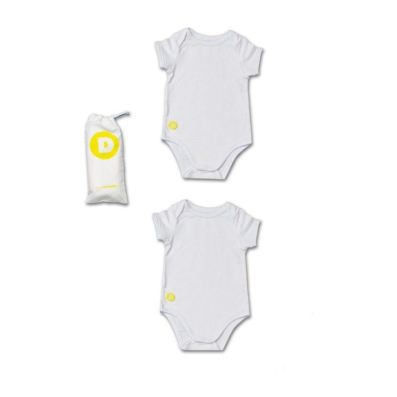 Baby Boy Short Sleeve Onesie Set, White