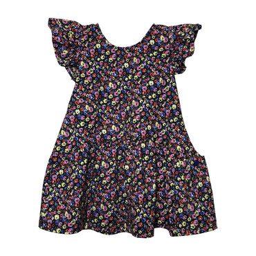 Amelia Ruffle Sleeve Dress, Floral Print