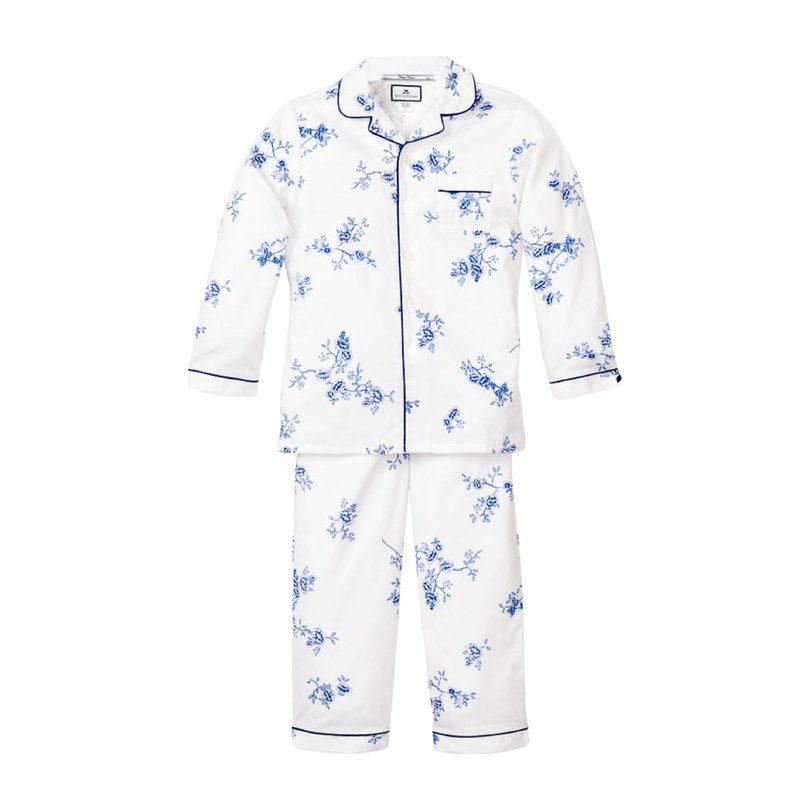 Floral Pajama Set, Indigo