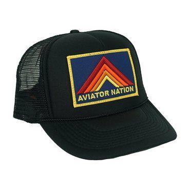 Mountain Stripe Trucker Hat