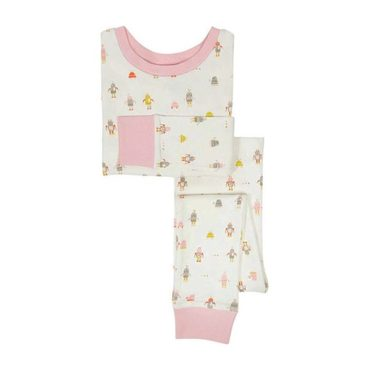 Kids Robot March Sleep Set, Pink