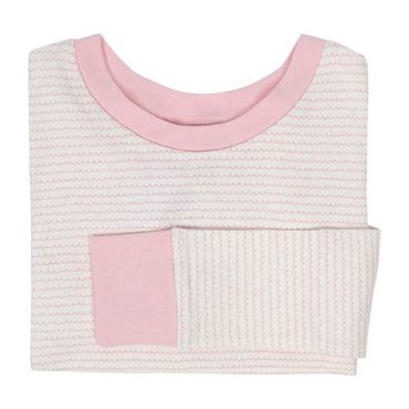 Kids Pink Fringe Striped Sleep Set