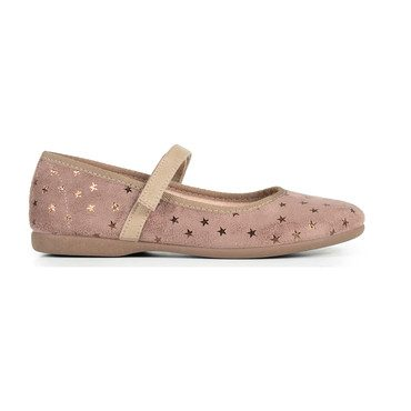Mary Janes with Stars, Mauve Suede