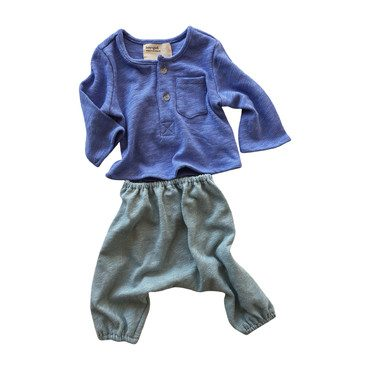 *Exclusive* Cozy Knit Baby Bundle, Periwinkle + Seafoam