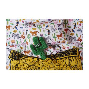 Cotton Flat Sheet, In The Jungle