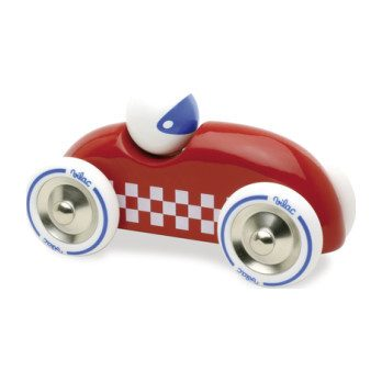 Rally Checkered Race Car, Red