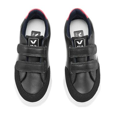 Junior V-12 Small Velcro Leather, Black White Pierre