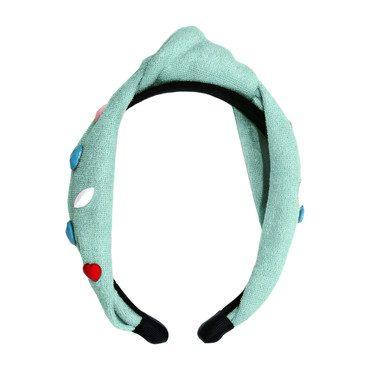 Confetti Terry Knot Headband, Mint