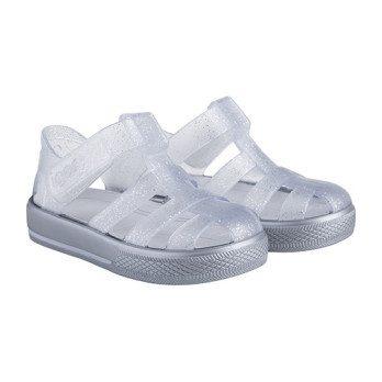 Star Jelly Sandal, Silver Grey