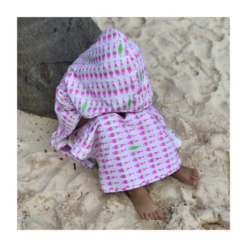 Kai Poncho, Fluo Pink/Island Green