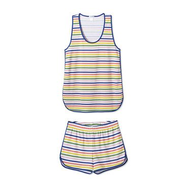 *Exclusive* Women's Tank Shorts Set, Maisonette Stripe