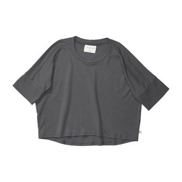 Oversized Jersey Tee, Charcoal