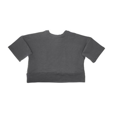 Exaggerated Pocket Pullover, Charcoal