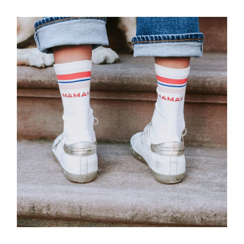 *Exclusive* Maman Varsity Sock