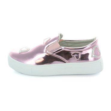 Hoova's Heart Sneaker, Pink Metallic