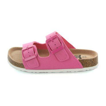 Harper Double Strap Slide Sandal, Pink