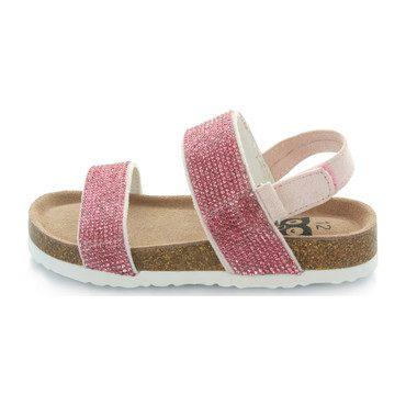 Ella Rhinestone Sandal, Pink Stones