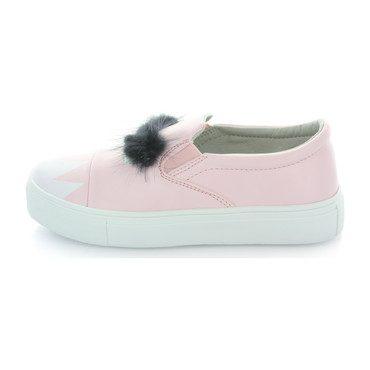 Charlie Monster Fur Slip-On Sneaker, Pink