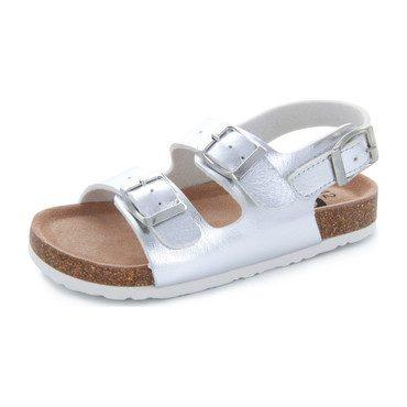Kate Double Strap Sandal, Silver