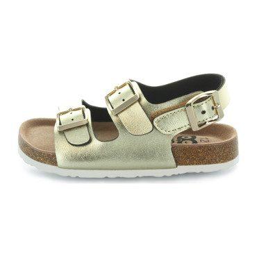 Kate Double Strap Sandal, Gold