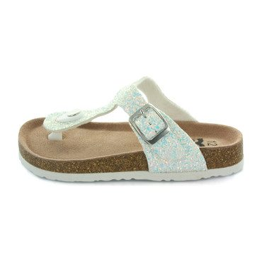 Alice Buckle Thong Sandal, Holo Glitter