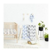 Organic Muslin Swaddle Set - Seaweed + Stingray, Marine