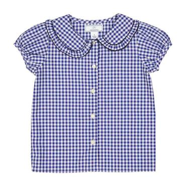 Chloe Button Front Shirt, Medieval Blue Gingham