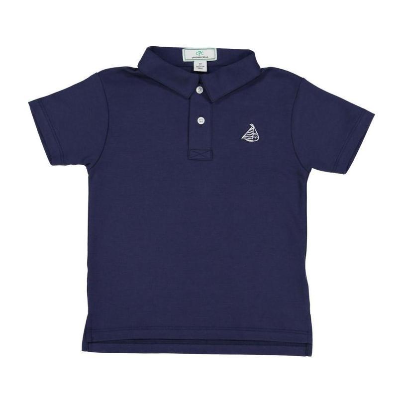 Henry Boys Short Sleeve Polo, Medieval Blue