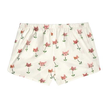 Catherine Pull-On Short, Cat Tulips