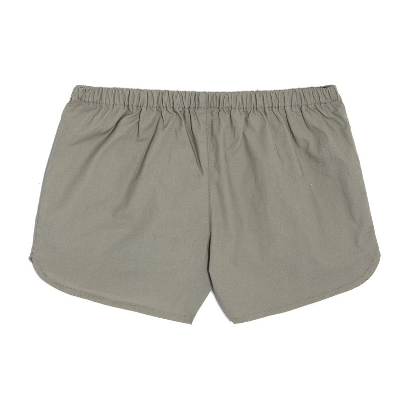 Catherine Pull-On Short, Army Green Cotton