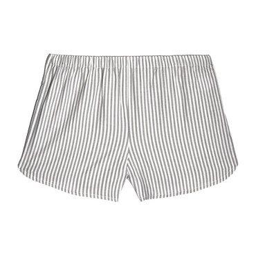 Catherine Pull-On Short, Grey Stripe