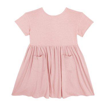 Delphine Short Sleeve Pocket Dress, Blush
