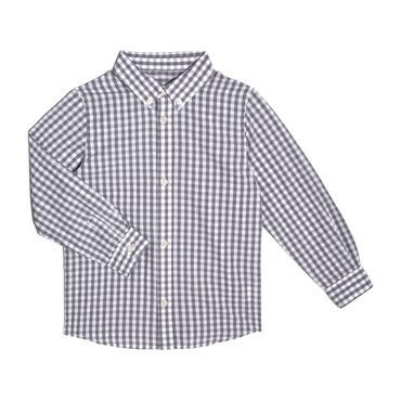 Lucas Long Sleeve Button Down, Grey Gingham